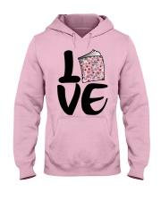 Flower Book Love Hooded Sweatshirt front