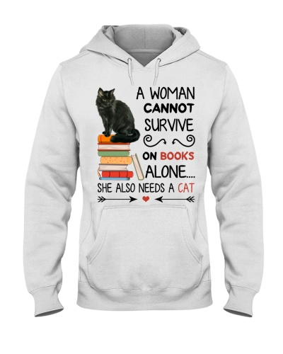 A woman cannot survive on books she needs a cat
