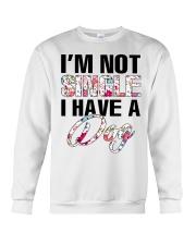 I'm not single I have a dog Crewneck Sweatshirt thumbnail