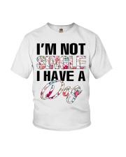 I'm not single I have a dog Youth T-Shirt thumbnail