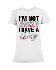 I'm not single I have a dog Premium Fit Ladies Tee thumbnail