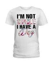 I'm not single I have a dog Ladies T-Shirt thumbnail
