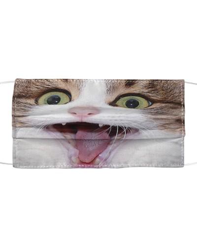 Cute Tongue Cat Face Mask Cloth