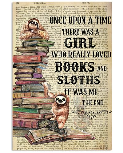 Books Sloths Once Upon A Time Vertical Poster