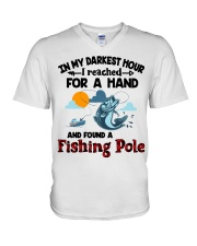Fishing Pole In My Darkest Hour V-Neck T-Shirt thumbnail
