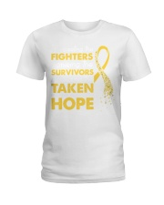 Supporting The Fighters Suicide Awareness Ladies T-Shirt thumbnail