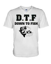DTF V-Neck T-Shirt thumbnail