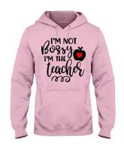 I am not bossy Funny Teacher  Hooded Sweatshirt front