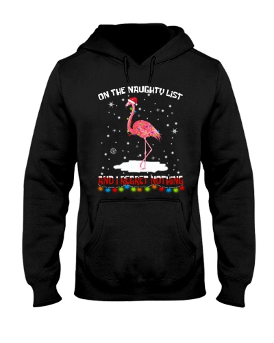 ON THE NAUGHTY LIST FLAMINGO FUNNY
