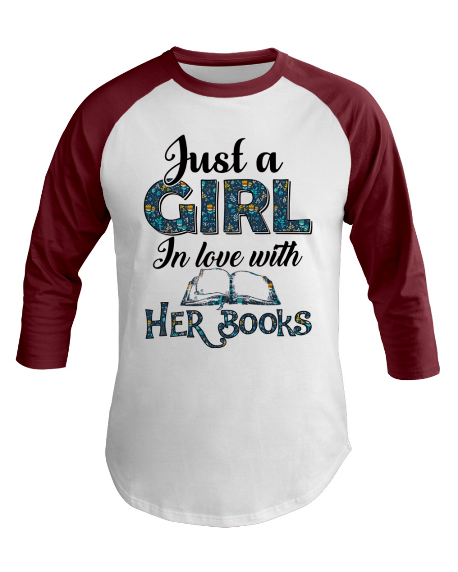 Just a girl in love with her books Baseball Tee