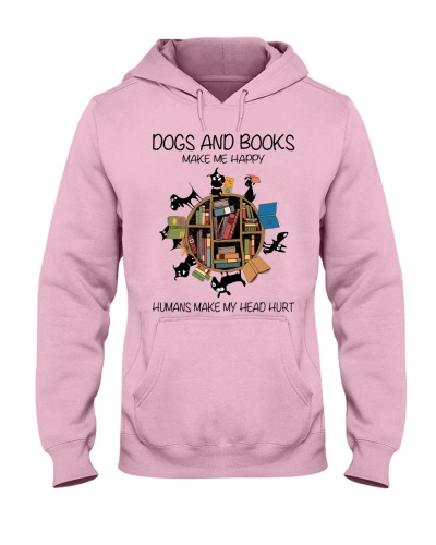 Dogs and books make me happy