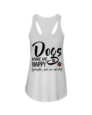 Dogs make me happy People not so much Ladies Flowy Tank thumbnail