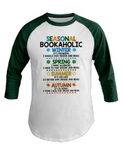 Seasonal Bookaholic Baseball Tee front