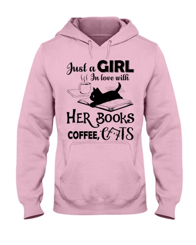 Just a GIRL In love with HER BOOKS COFFEE CATS