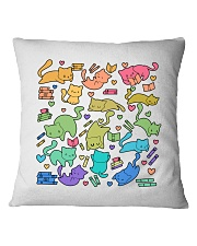 Cats And Books Pillow Limited Edition Square Pillowcase front