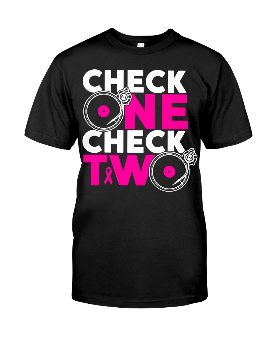 Check one check two Classic T-Shirt