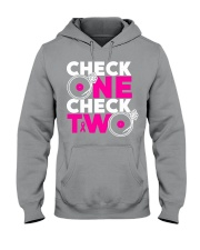 Check one check two Hooded Sweatshirt thumbnail