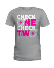 Check one check two Ladies T-Shirt tile