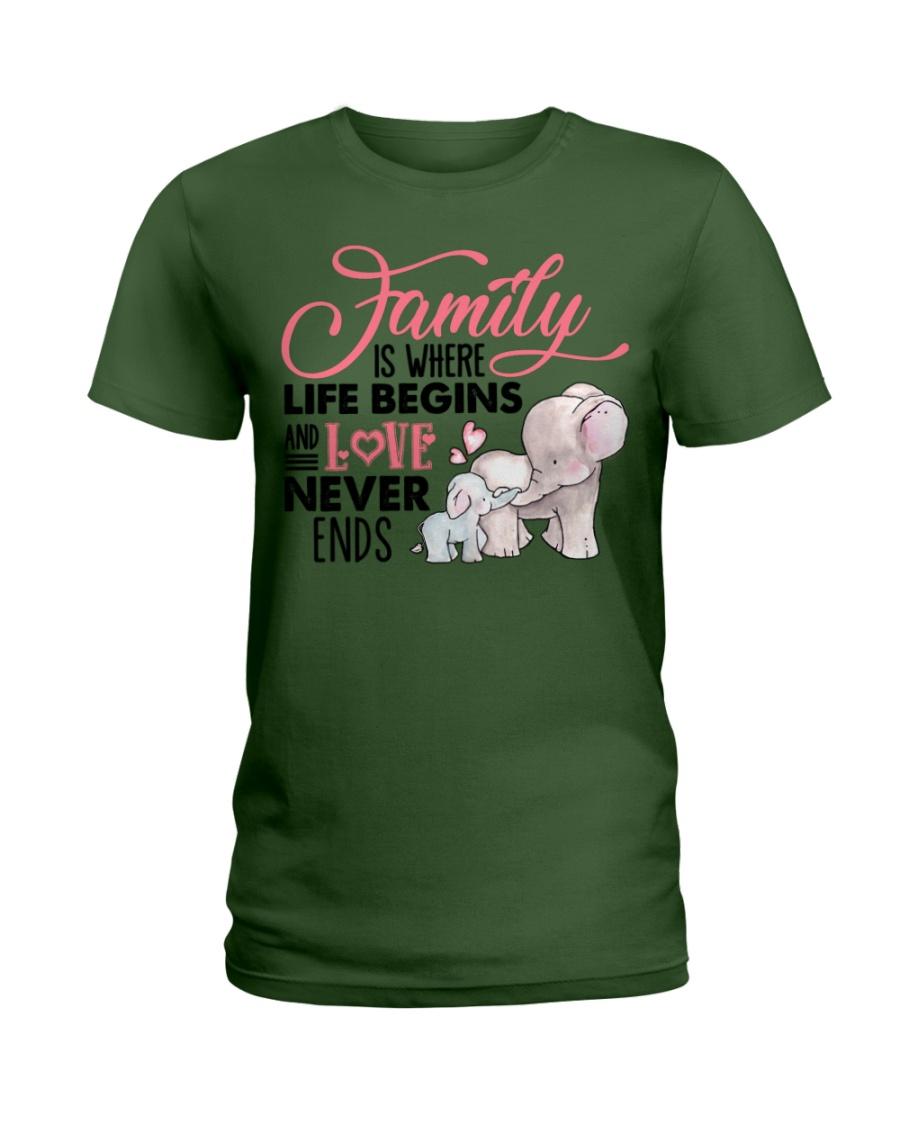 Elephant - Love Never Ends Ladies T-Shirt
