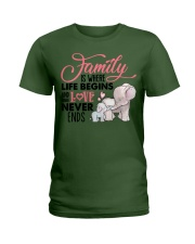 Elephant - Love Never Ends Ladies T-Shirt front