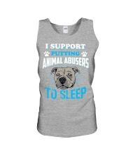I support putting animal abusers to sleep Unisex Tank thumbnail