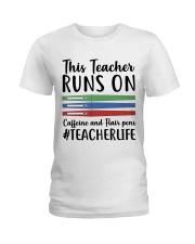 Caffeine And Flair Pens Ladies T-Shirt thumbnail