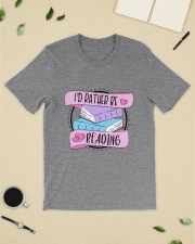 I'd rather be reading Classic T-Shirt lifestyle-mens-crewneck-front-19