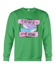 I'd rather be reading Crewneck Sweatshirt thumbnail