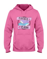 I'd rather be reading Hooded Sweatshirt thumbnail