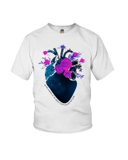 Nurse Heart In The Garden Youth T-Shirt thumbnail