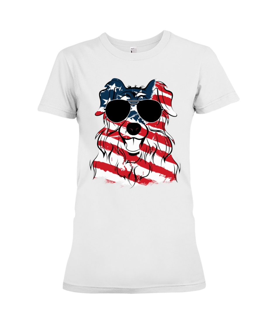 Cute Australian Shepherd Premium Fit Ladies Tee