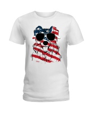 Cute Australian Shepherd Ladies T-Shirt thumbnail
