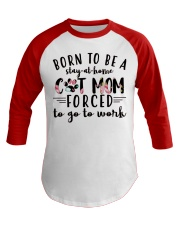 Born to be a stay at home cat mom Baseball Tee tile