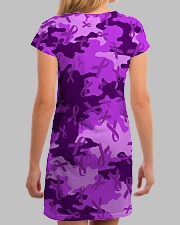 Alzheimer Awareness Camo All-over Dress aos-dress-back-lifestyle-3