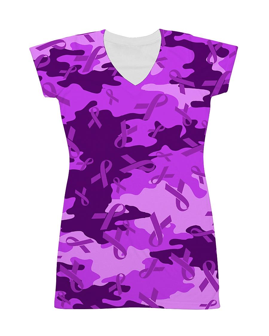 Alzheimer Awareness Camo All-over Dress