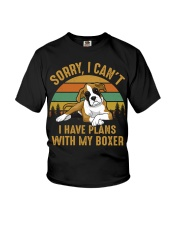 I Have Plans With My Boxer Youth T-Shirt thumbnail