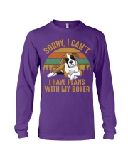 I Have Plans With My Boxer Long Sleeve Tee thumbnail