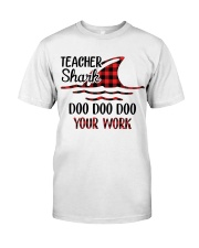 Teacher Shark Doo Doo Your Work Classic T-Shirt tile