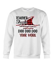 Teacher Shark Doo Doo Your Work Crewneck Sweatshirt tile
