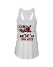 Teacher Shark Doo Doo Your Work Ladies Flowy Tank tile