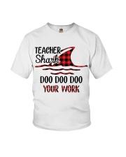 Teacher Shark Doo Doo Your Work Youth T-Shirt tile