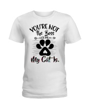 You're not the boss Ladies T-Shirt front