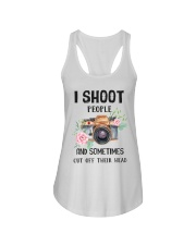 I Shoot People Photograph Lover Ladies Flowy Tank thumbnail