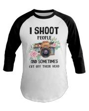 I Shoot People Photograph Lover Baseball Tee thumbnail