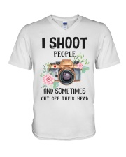 I Shoot People Photograph Lover V-Neck T-Shirt thumbnail