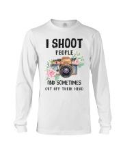 I Shoot People Photograph Lover Long Sleeve Tee thumbnail