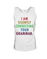 Silently Correcting Your Grammar Unisex Tank thumbnail