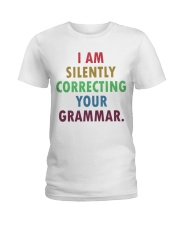 Silently Correcting Your Grammar Ladies T-Shirt thumbnail