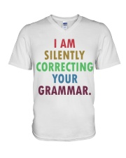 Silently Correcting Your Grammar V-Neck T-Shirt thumbnail