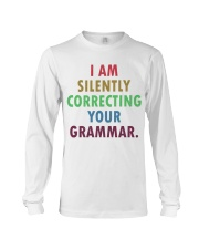 Silently Correcting Your Grammar Long Sleeve Tee thumbnail